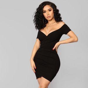 "Fashion Nova ""The night we met"" black dress"